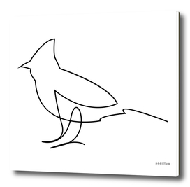 Fella - single line bird art
