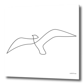 Seagull - single line art