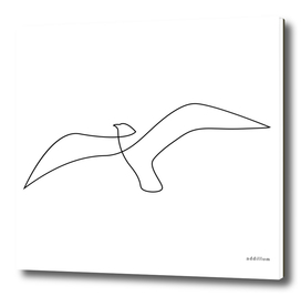 Seagull - single line art