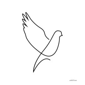 dove - single line art