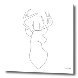 ohdeer - single line deer art