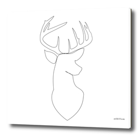 ohdeer - single line deer art