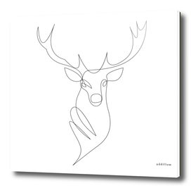 deer - one line art