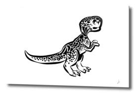 Spotted baby dinosaur
