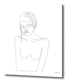 Girl - single line art