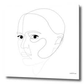 robogirl - single line art