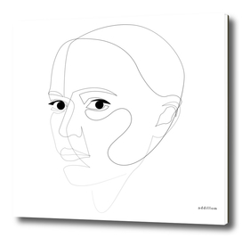 robogirl - single line art