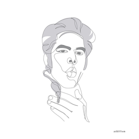 Jim Jarmusch - single line art