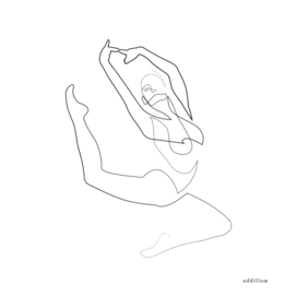 aloft - single line ballerina art