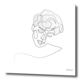 unobtrusiveness - single line portrait