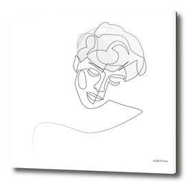 unobtrusiveness - single line portrait