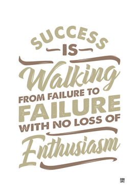 Success Is Walking - Motivational