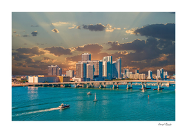 Boats and Airplane at Biscayne Bay-Edit