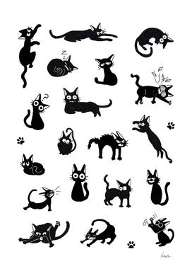Cat moods
