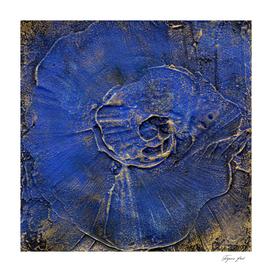 blue embossed plaster background