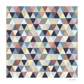 Earth Tones and Blues Small Triangles A