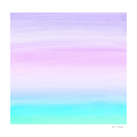 Touching Unicorn Girls Watercolor Abstract #1 #painting