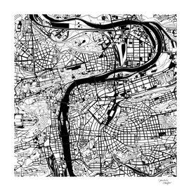 Prague map white