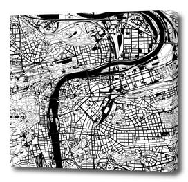 Prague map white