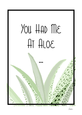 You Had me at aloe