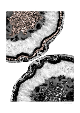 Yin Yang Agate Glitter Glam #1 #gem #decor #art