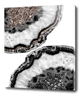 Yin Yang Agate Glitter Glam #1 #gem #decor #art