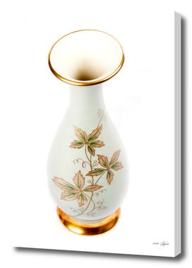 Vintage elegant decorative vase on white background - photo