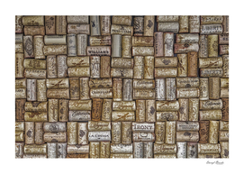 Champagne Corks on Wall