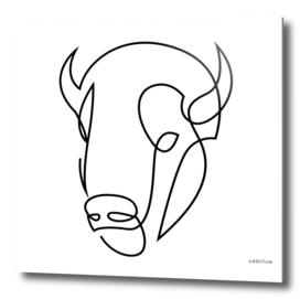 antiquity - one line bull art