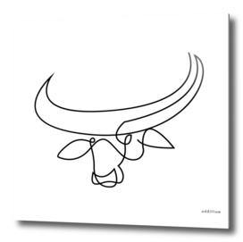 bullseye - buffalo one line art