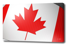 Background with flag of Canada - 3D rendering illustration