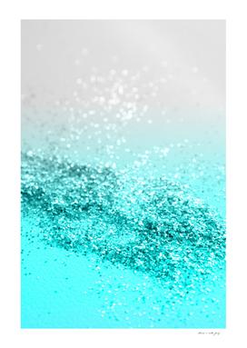 Silver Gray Aqua Teal Ocean Glitter #1 #shiny #decor #art