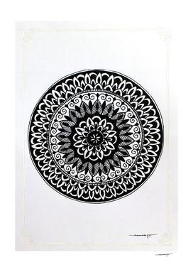White Border Mini Mandala 2