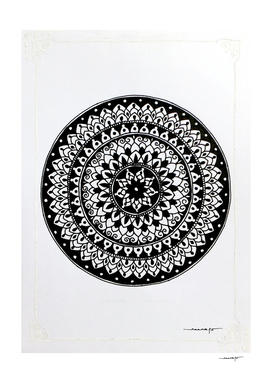 White Border Mini Mandala 3
