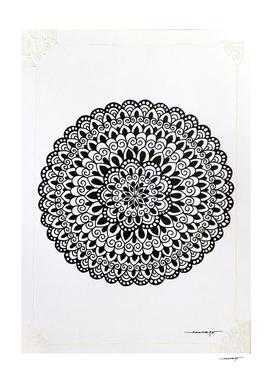 White Border Mini Mandala 4