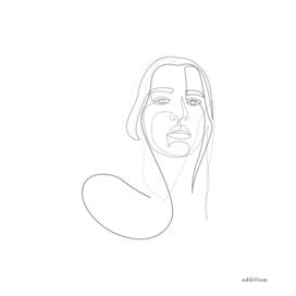 Circly - linear girl portrait