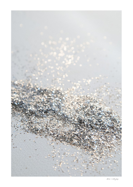 Silver Gray Glitter #2 #shiny #decor #art