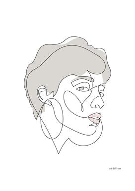 Curly Liny - single line art