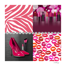 Pink & Purple Fashion Collage