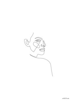 lost - single line art