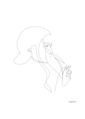 Smoke - single line art