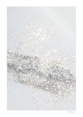 Silver Gray Glitter #3 #shiny #decor #art