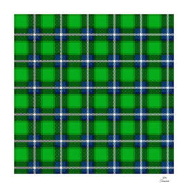 Scottish Tartan Blue and Green
