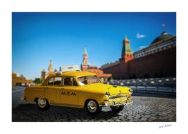Soviet yellow taxi