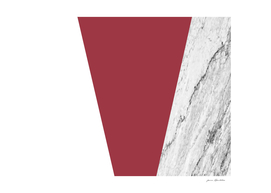 Marble Jester Red Geometry