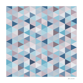 Mauve Blue Small Triangles B