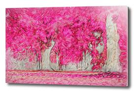 Pink Forest Swirls