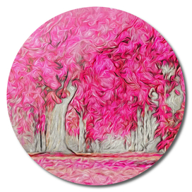 Pink Forest Swirls