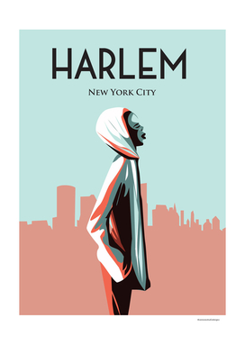 Harlem New york | Vintage Travel Poster |