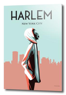 Harlem New york | Vintage Travel Poster |